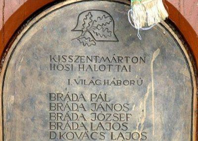 Kisszentmárton világháborús emlékmű 2007.07.01. küldő- Dr. Lázár Gyula Levente (2)