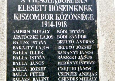 Kiszombor I. világháborús emlékmű 2012.09.06. küldő-Erika 67 (2)