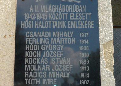 Klárafalva II. viláháborús emléktábla 2013.07.17. küldő-Sümec (3)