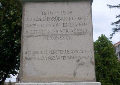 Kocsér I. világháborús emlékmű 2014. 05.03. küldő-belamiki (2)