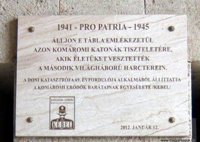 Komárom-Koppánymonostor - a monostori erőd fala - Világháborús emléktáblák 2016.04.17. küldő-Méri (1)