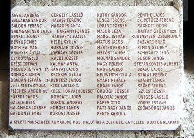 Komárom-Koppánymonostor - a monostori erőd fala - Világháborús emléktáblák 2016.04.17. küldő-Méri (2)