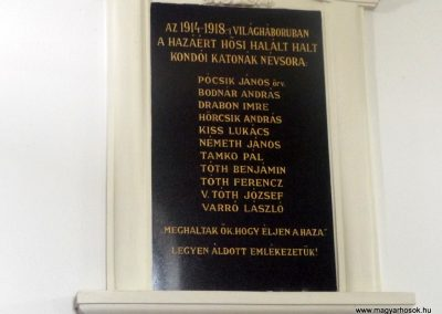 Kondó I. világháborús emléktábla 2015.05.17. küldő-kalyhas (2)