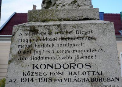 Kondoros világháborús emlékmű 2014.11.20. küldő-Sümec (3)