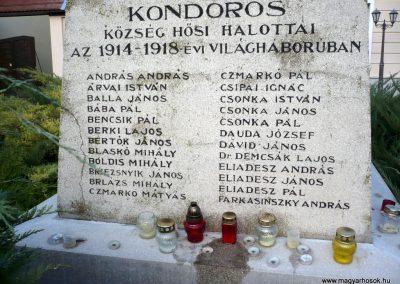 Kondoros világháborús emlékmű 2014.11.20. küldő-Sümec (4)