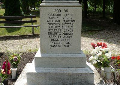 Lajoskomárom világháborús emlékmű 2009.07.26.külő-Ágca (11)