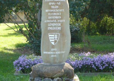 Lenti II.vh.levente emlékmű 2009.10.06. küldő-Sümec (1)