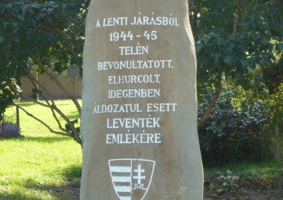 Lenti II.vh.levente emlékmű 2009.10.06. küldő-Sümec (2)