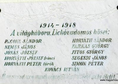 Lickóvadamos I. világháborús emléktábla 2017.11.19. küldő-Huber Csabáné (1)