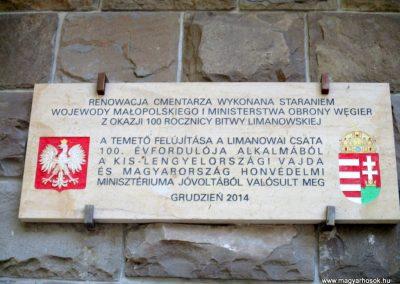 Limanowa - Jabloniec-domb katonatemető I. világháborús emlékművek és katonasírok 2016.07.21. küldő-Gyurkusz (12)