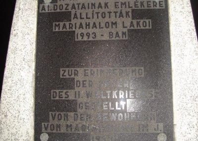 Máriahalom II.vh emlékmű 2008.12.29.küldő-Huszár Peti (1)