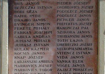 Márianosztra I.vh emlékmű a Pálos templom falán 2006.09.10. küldő-Pfaff László, Rétság (1)