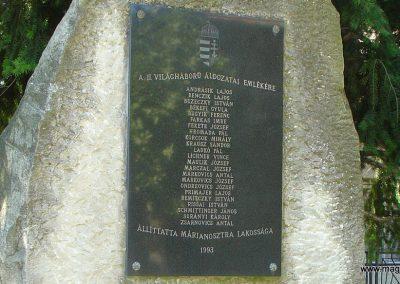 Márianosztra II.vh emlékmű 2006.09.10. küldő-Pfaff László, Rétság (1)