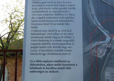 Mártély I. világháborús emlék 2014.10.19. küldő-Emese (1)