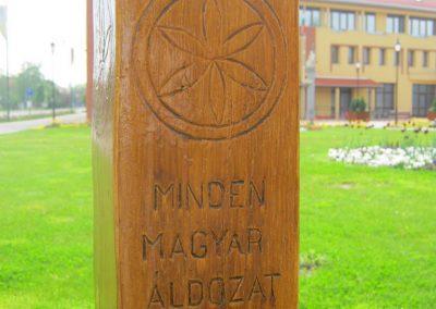 Mórahalom - kopjafák az áldozatok emlékére 2017.04.30. küldő-Emese (2)