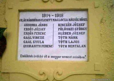 Maglóca világháborús emléktáblák 2010.11.01. küldő-Ancsa84 (2)