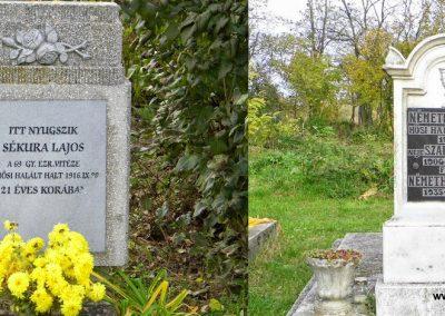 Magyaralmás katonasírok a II. világháborús emlékmű körül 2014.11.10. küldő-Méri
