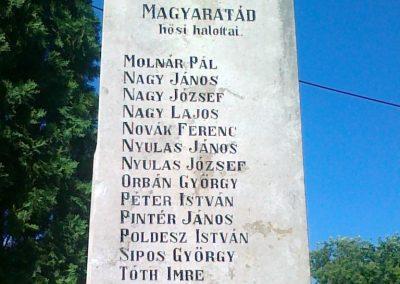 Magyaratád világháborús emlékmű 2010.08.26. küldő-Csiszár Lehel (3)