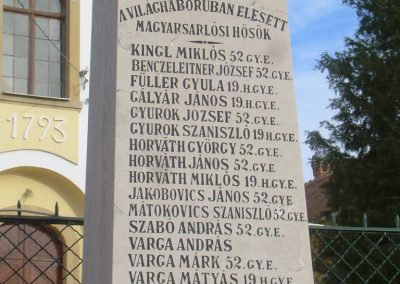 Magyarsarlós I.vh emlékmű 2012.01.07. küldő-Turul 68 (2)