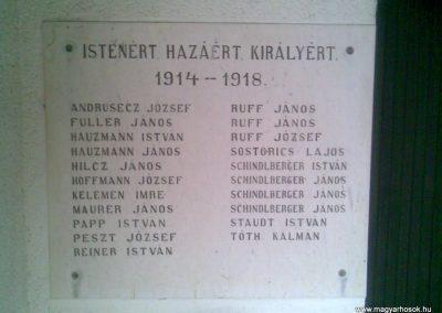 Magyarszentmiklós I.vh emléktábla a temetőben 2010.11.01. küldő-Sümec (1)