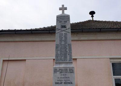 Majláthfalva I. világháborús emlékmű 2015.02.08. küldő-Sümec (1)