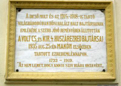 Makó Szent István templom I. világháborús emléktábla 2015.05.07. küldő-Emese (2)