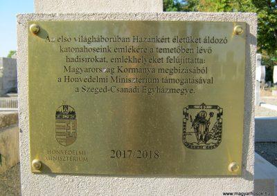 Makó katolikus temető megújult emlékműés katonasírok 2018.09.16. küldő-Bali Emese (8)