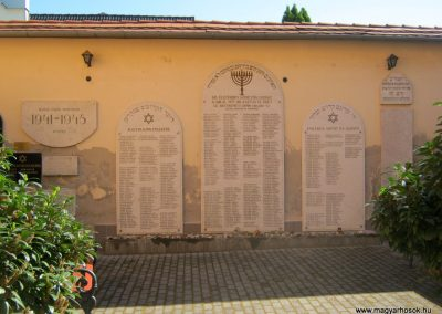 Makó orthodox zsinagóga I. és II. világháborús emléktáblák 2015.05.07. küldő-Emese (2)