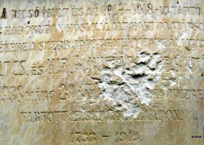 Makó református templom I. világháborús emléktábla - megrongálva... - 2015.05.07. küldő-Emese (3)
