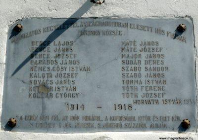 Marcali-Boronka I. világháborús emléktábla 2013.04.15. küldő-Sümec (3)