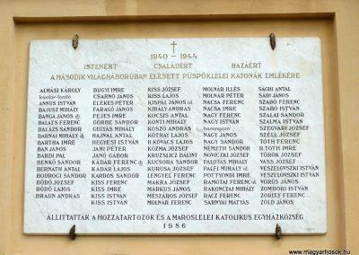 Maroslele világháborús emléktáblák 2013.09.21. küldő-Sümec (5)