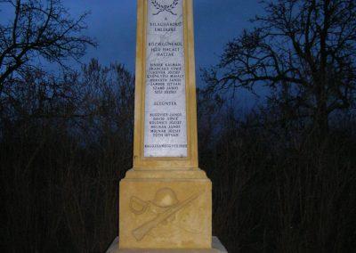 Meggyeskovácsi-Balozsameggyes- vh emlékmű 2008.01.27. küldő-Tamás2 (2)