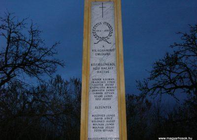 Meggyeskovácsi-Balozsameggyes- vh emlékmű 2008.01.27. küldő-Tamás2