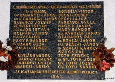 Mezőörs világháborús emléktábla református templom 2013.10.23. küldő-Méri (2)