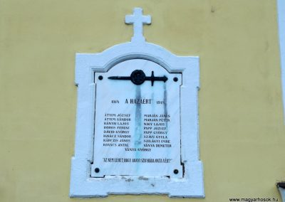 Mezőpeterd I. világháborús emléktábla 2018.05.28. küldő-Bóta Sándor (2)