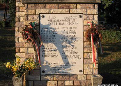 Mihálygerge világháborús emlékmű 2009.07.20. küldő-kalyhas (3)
