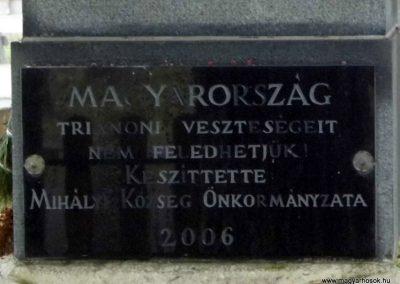Mihályi I. vh-s emlékmű