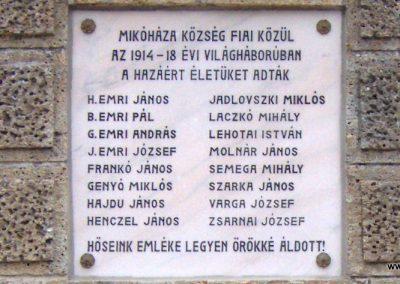 Mikóháza világháborús emlékmű 2007.07.13.küldő-Ágca. (3)