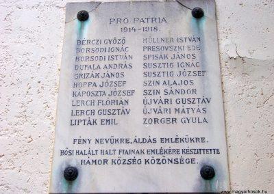 Miskolc - Felsőhámor I. világháborús emléktábla 2013.06.09. küldő-Pataki Tamás (1)