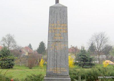 Miskolc-Szirma világháborús emlékmű 2008.04.05. küldő-kalyhas