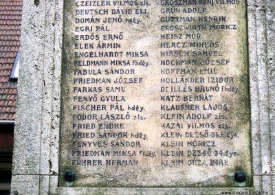 Miskolc neológ zsinagóga világháborús emlékmű 2015.08.03. küldő-Emese (3)