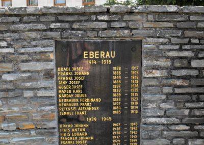 A közös emlékmű Mogyorókerék (Eberau) táblája
