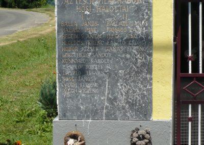 Muraszemenye - Alsószemenye világháborús emléktábla 2012.07.10. küldő-Sümec (2)