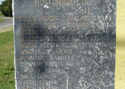 Muraszemenye - Alsószemenye világháborús emléktábla 2012.07.10. küldő-Sümec (3)