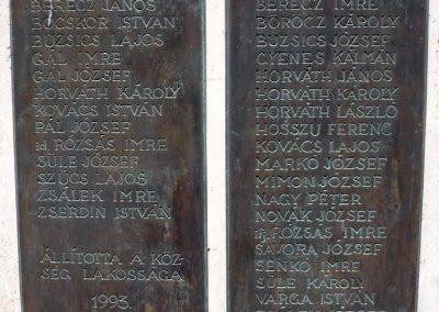 Muraszemenye - Csernec világháborús emlékmű 2012.07.10. küldő-Sümec (3)