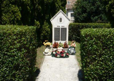 Muraszemenye - Csernec világháborús emlékmű 2012.07.10. küldő-Sümec