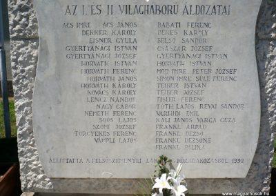 Muraszemenye - Felsőszemenye világháborús emlékmű 2012.07.10. küldő-Sümec (3)