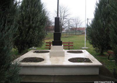 Nagyút II.vh emlékmű 2008.03.08. küldő-kalyhas