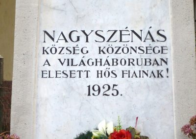Nagyszénás I. világháborús emlékmű felújítás után 2014.11.20. küldő-Sümec (4)