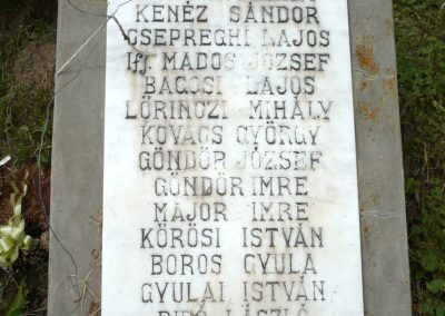 Nagyszalonta világháborús hősök emlékművei és síremlékei a temetőben 2013.06.29. küldő-Sümec (34)
